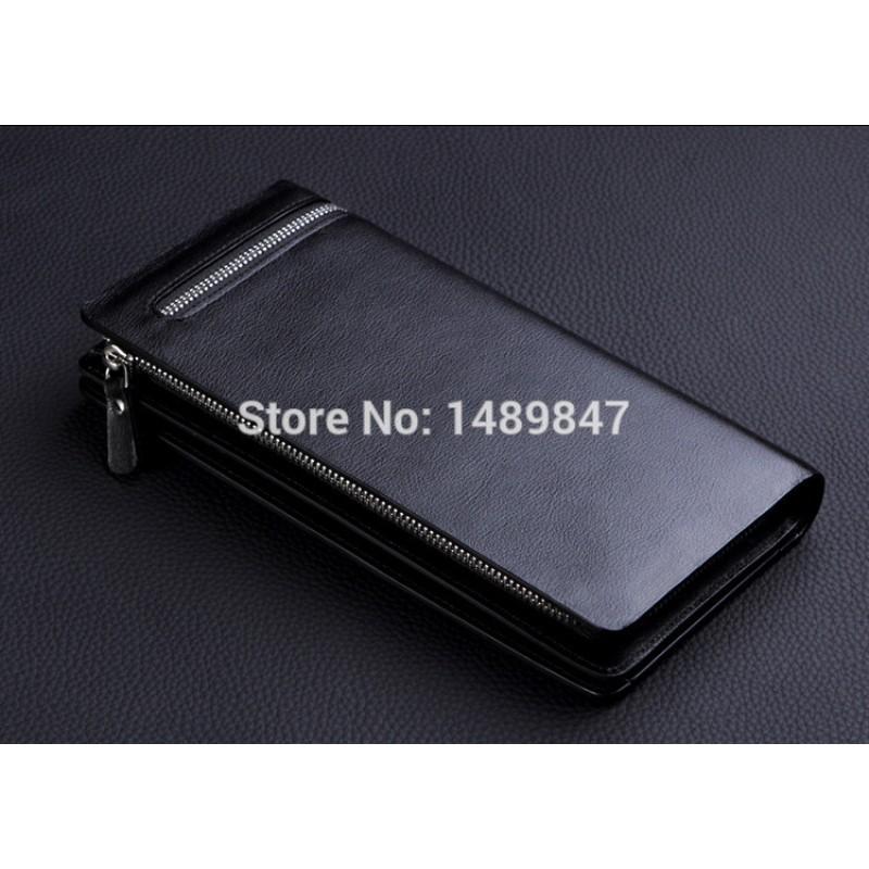 Brown Men Leather Wallet Business Card holder iPhone Case