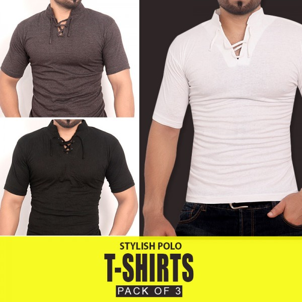 Pack Of 3 Half Sleeves T-Shirts MH-505