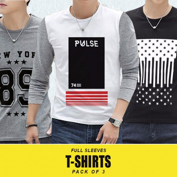 Pack Of 3 NYP Long Sleeves T-Shirts MH-511