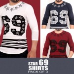 Pack Of 3 Long Sleeves T-Shirts MH-506