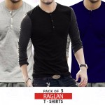 Pack Of 3 Dual Color Long Sleeves T-Shirts MH-509