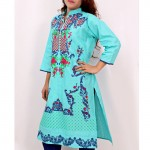 Aqua Embroidered Stylish Design Ladeis suit AKG-073