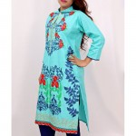 Aqua Embroidered Stylish Design Ladeis suit AKG-075