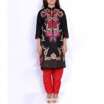 Black Embroidered Stylish Design Ladeis suit AKG-069