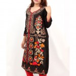Black Embroidered Stylish Design Ladeis suit AKG-079
