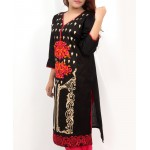Black Embroidered Stylish Design Ladeis suit AKG-084