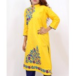 Gold Embroidered Stylish Design Ladies suit AKG-074
