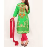 Lime Embroidered Stylish Design Ladeis suit AKG-080