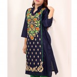 Navy Embroidered Stylish Design Ladeis suit AKG-071