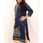 Navy Embroidered Stylish Design Ladies suit AKG-076
