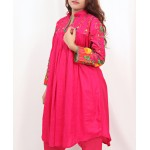 Red Embroidered Stylish Design Ladies suit AKG-083