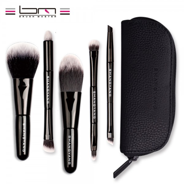 5Pcs Studio Makeup Brushes Synthetic Natural Hair Conveniently Portable Mini Make Up Brush Set