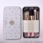 7 pcs Palette Solid Highlighter Powder Foundation Eyeshadow Makeup Brush Set
