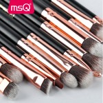 MSQ 12 pcs Soft Synthetic Eyeshadow Makeup Brushes Set