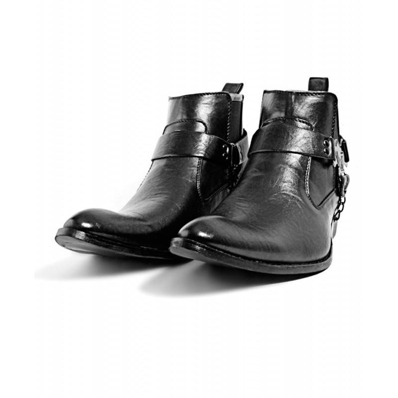 black cowboy style boots dr 005