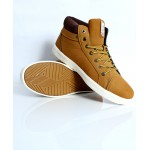 Brown Stitched Design Casual Shoes DR-374