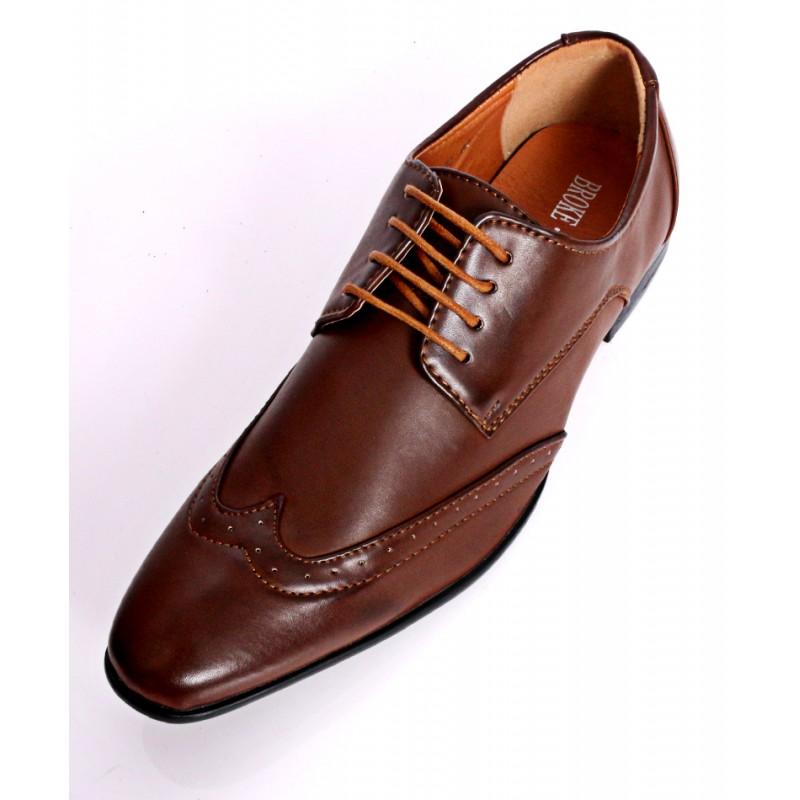 light brown design stylish formal shoes dr 409