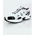 White Black Stitched Dotted Design Sports Shoes DR-346