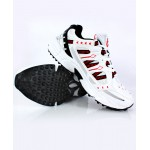 White Red Stitched Design Sports Shoes DR-382