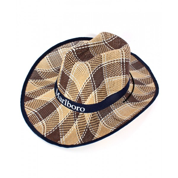 Blue Ribbon Cowboy Style Straw Hat CPT-734