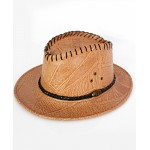 Mustard Black Ribbon Cowboy Style Hat CPT-735