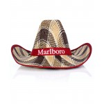 Red Ribbon Cowboy Style Straw Hat CPT-733