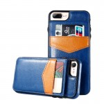 KISSCASE Blue Luxury Flip Leather case for iPhone with Vertical Wallet Card Case