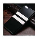TPU Silicone Black Case With White Stripe For iphone