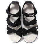Black White Stylish Design Casual Sandal DR-496