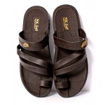Brown Stitched Stylish Casual Slipper DR-447
