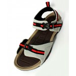 Gray Black Stitched Design Casual Sandal DR-482