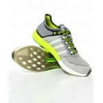 Gray Yellow Stitched Design Stylish Sports Shoes DR-469