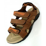 Light Brown Tri Strap Stylish Casual Sandal DR-455