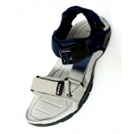White Blue Shaded Tri Strap Casual Sandal DR-459