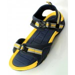 Yellow Navy Stitched Design Casual Sandal DR-477