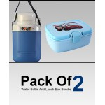 Pack Of 2 Water Bottle And Lunch Box Bundle