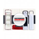 Pack Of 2 Solar Rechargeable Emergency Light SL-7015
