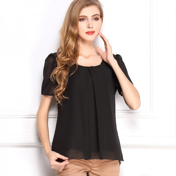 BLACK ELEGANT TOP FOR WOMEN