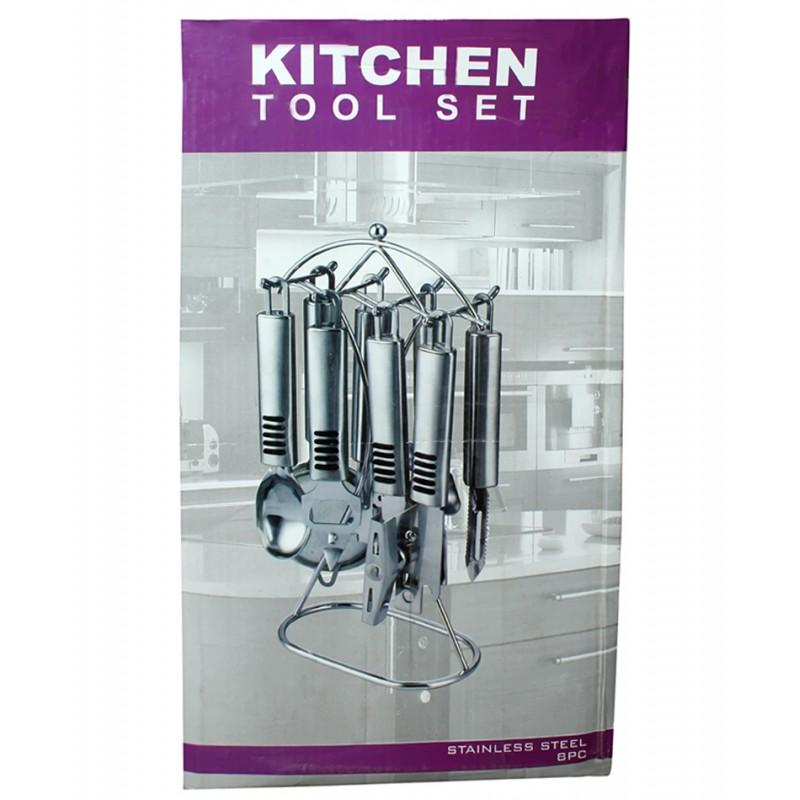 Stainless steel 8 pics kitchen tool set for Lagostina kitchen tool set 8 pc
