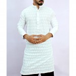 White Chicken Embroidered Style Kurta ARK-846