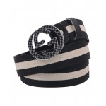 Black Beige Dual G Shaped Doted Buckle Belt SJ-149