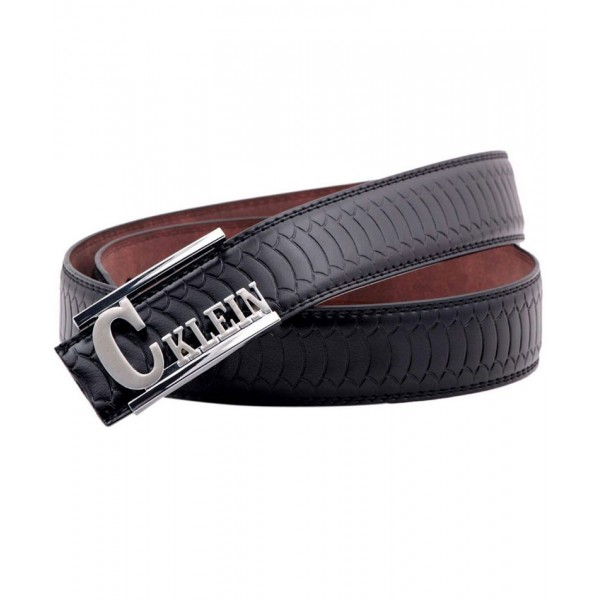 Black Stylish Silver Buckle Belt SJ-175