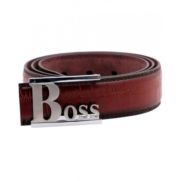 Light Brown Stylish Silver Buckle Belt SJ-168
