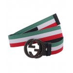 Varicolored Dual G Shaped Buckle Belt SJ-143
