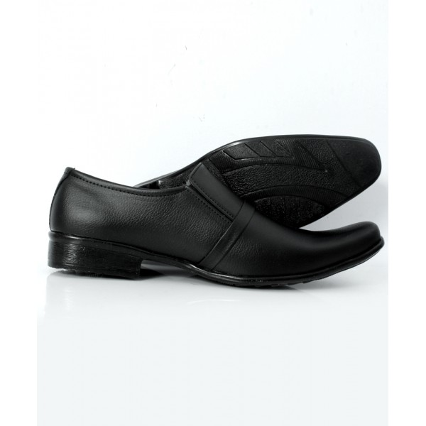 Black Front Stitched Design Formal Shoes DR-247