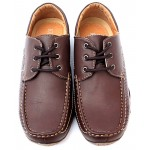 Choco Brown Stitched Dotted Casual Shoes DR-072