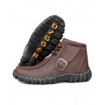 Choco Brown Stitched Style Casual Boots DR-113