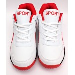 Red White Stitched Style Lace Up Sports Shoes DR-173