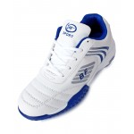White And Blue Stitched Design Sports Shoes DR-157