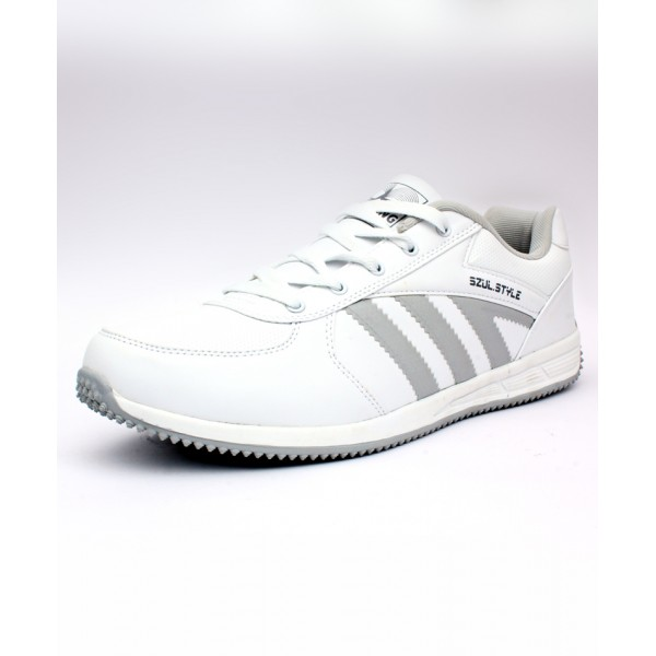 White Grey Stitched Style Sports Shoes DR-170